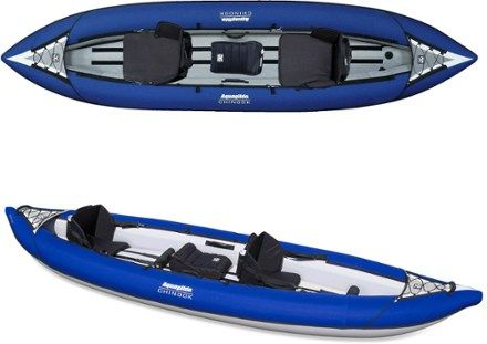 Ideal for family use with plenty of room for 2 adults plus a child or gear with room to spare, the Chinook XP Tandem XL is an all-purpose recreational inflatable kayak the whole family will enjoy. Available at REI, 100% Satisfaction Guaranteed.
