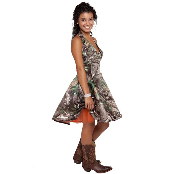 camouflage prom dresses | Realtree ® Camo Halter Dress | Camo Homecoming Dresses