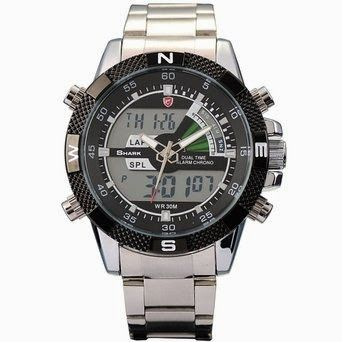 SHARK Mens Digital Analog Lcd Chronograph Date Day Army Sport Quartz Watch + Box $29.99 http://roksmu.blogspot.com/2014/07/army-watch.html