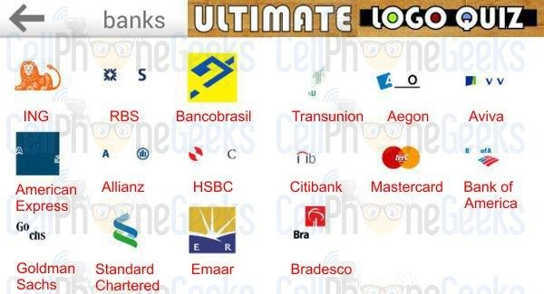 Bank Logos Quiz With Answers