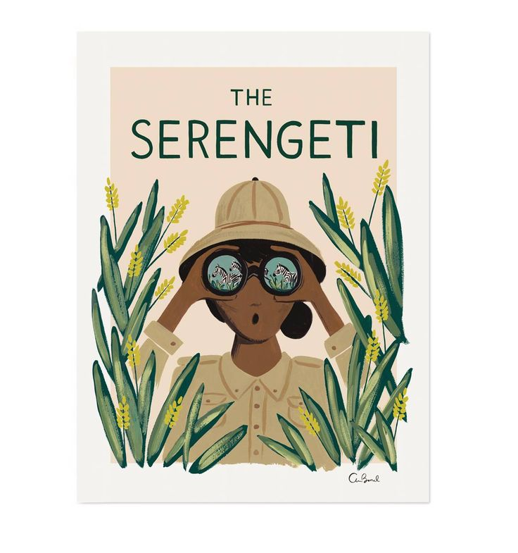 Serengeti Travel Illustrated Art Print