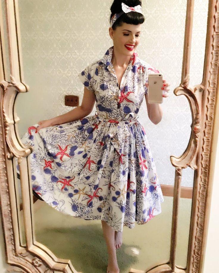 Kelly Dress in Star Fish Print