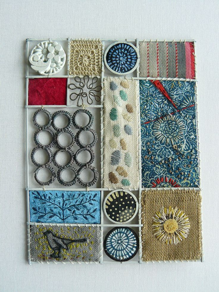 liz cooksey -- a shadow box of fiber. I love this, inspired.