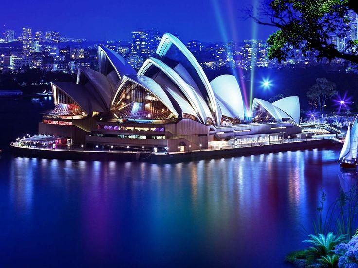 opera house sydney | Sydney Opera House At Night, Australia | 1920 x 1440 | Download ...