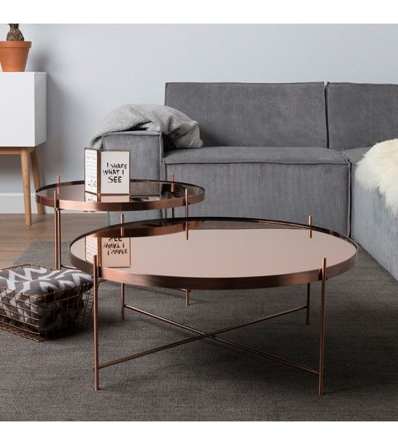 Table Basse En Cuivre Side Table Cupid Xxl Copper Zuiver Table Basse Table Basse Ronde Table Basse Salon