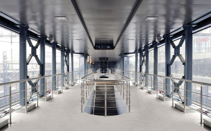 Adler Railway Station, Rosja, Armstrong Sufity Podwieszane, ceiling, sufit akustyczny, acoustic, Metal