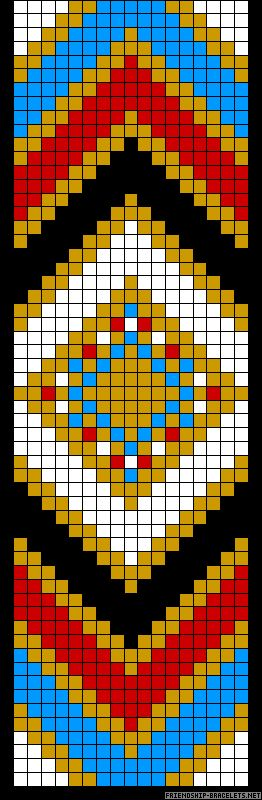 Native American Pattern - while its a Braclet pattern - I Like the colors for a quilt and pattern could work
