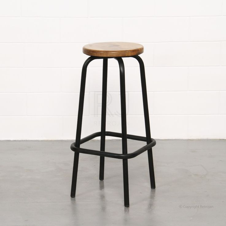 Clifford Industrial Stool - Black | $99.00