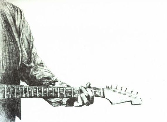 Contour Line Drawing Guitar : Best jammin images graphite drawings guitar