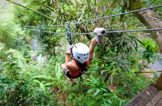 Zipline at Coconut Bay Resort in St. Lucia