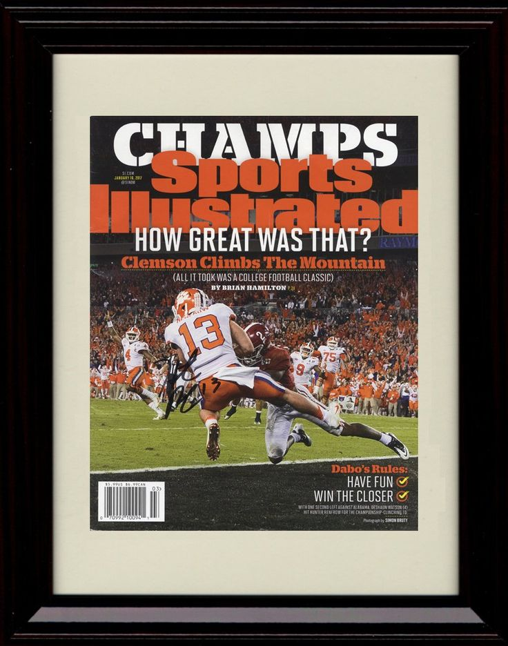 Framed Hunter Renfrow Sports Illustrated Autograph Replica