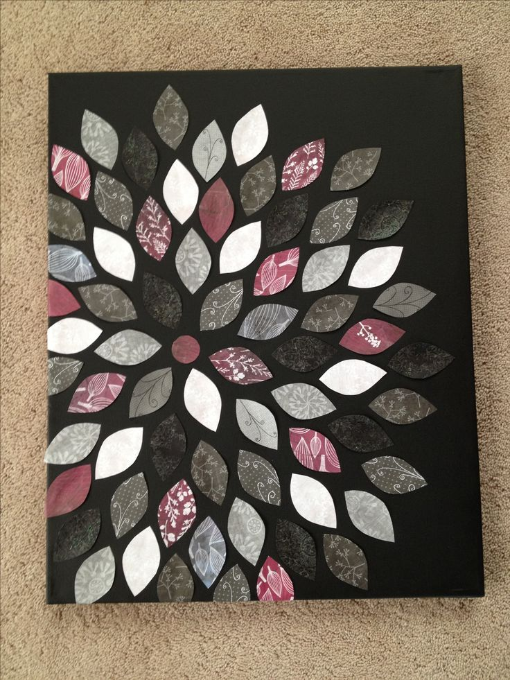 Canvas and scrapbook paper craft.