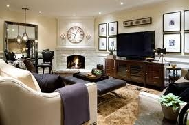 candice Olson design for basement living room. comfy and gorgeous