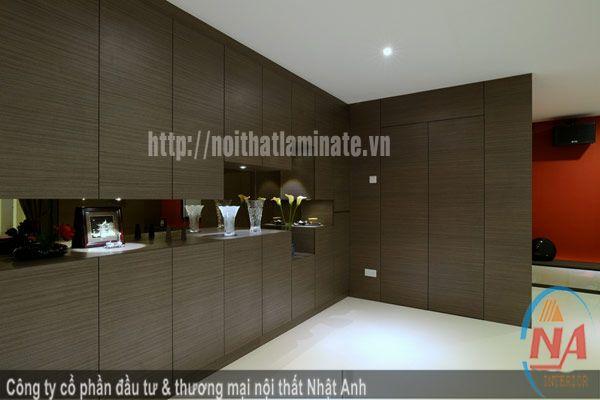 Tủ áo gỗ lamiante cho phòng ngủ NA 04