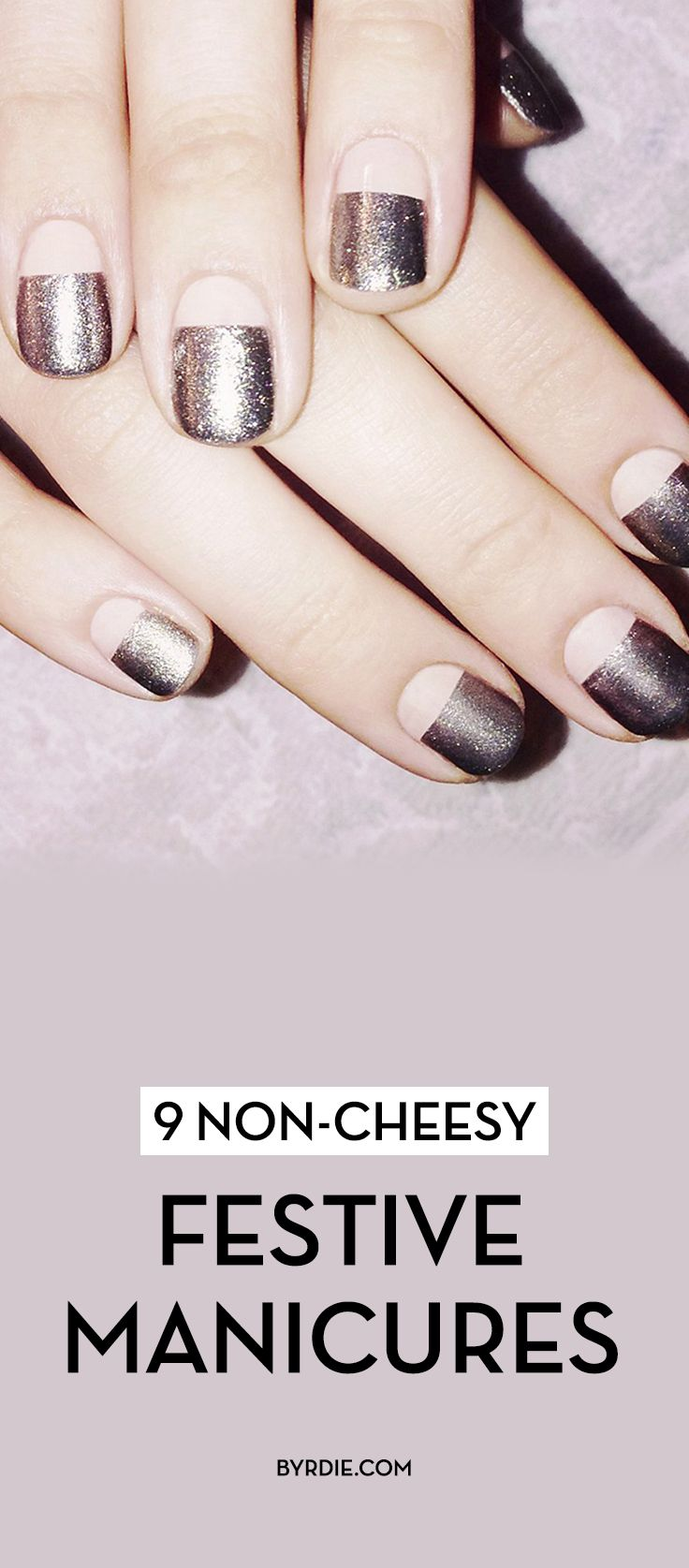 9 holiday manicures that aren't cheesy