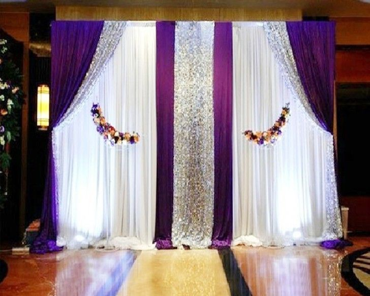 Pipe And Drape System Or Telescopic Pole And Backdrop Or