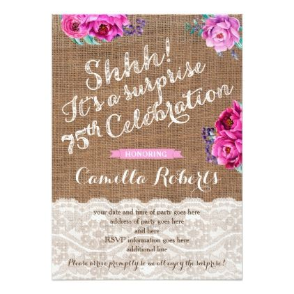 Best 25 75th birthday invitations ideas – 75th Birthday Invitation Cards