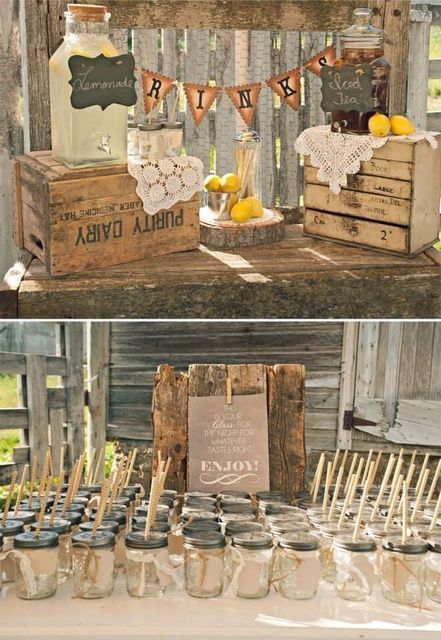 Rustic Wedding Party Ideas!  See more party ideas at CatchMyParty.com!