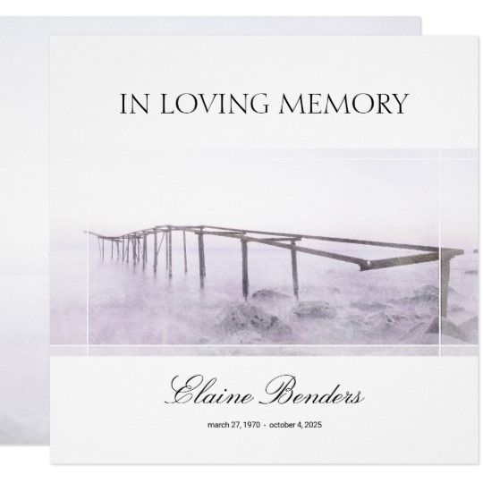 61 best memorial stationery images on pinterest contact paper memorial service invitation funeral announcement stopboris Choice Image