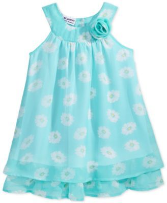 Blueberi Boulevard Floral Ruffle Dress, Toddler & Little Girls (2T-6X)