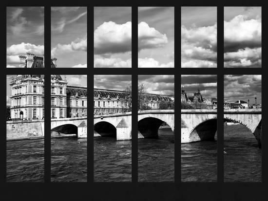Window View - the Carrousel Bridge - Louvre Pyramid Buildings - River Seine - Paris - France Photographic Print by Philippe Hugonnard at AllPosters.com