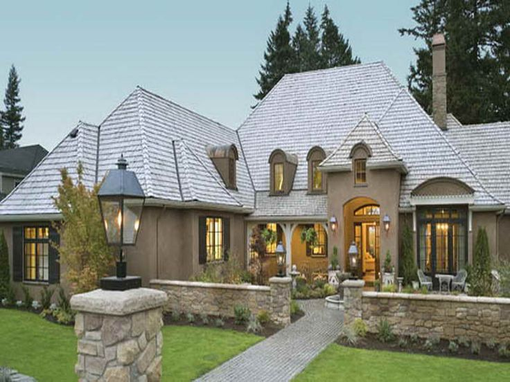 Cottage Style Single Story Home Exterior French Country