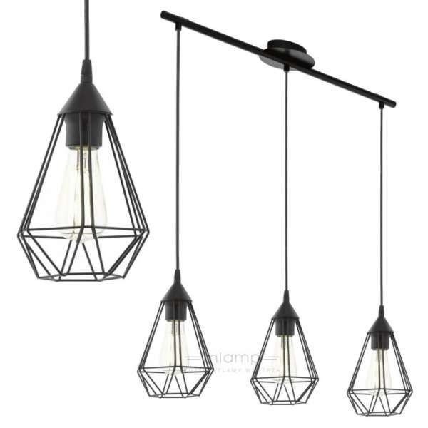 Industrialna LAMPA wisząca E94189 druciana OPRAWA metalowa LISTWA drut czarny - Lampy wiszące - zdjęcia, pomysły, inspiracje - Homebook