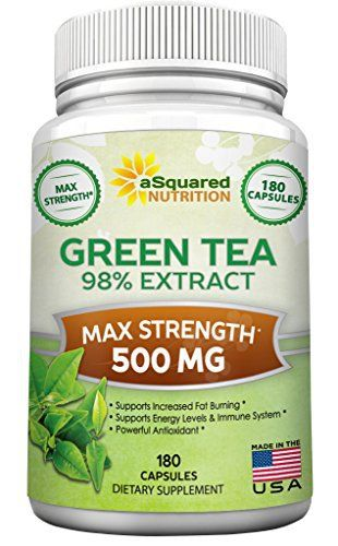 MAXIMUM STRENGTH GREEN TEA 98% EXTRACT FORMULA WITH 500 MG OF GREEN TEA EXTRACT PER CAPSULE AND 180 CAPSULES PER BOTTLE. * Green Tea Extract is one of the most widely used ingredients in weight-loss supplements, as it promotes increased fat burning, helps boost metabolic rate and supports... more details at http://supplements.occupationalhealthandsafetyprofessionals.com/herbal-supplements/green-tea/product-review-for-green-tea-extract-supplement-with-egcg-180-capsules-max-pot
