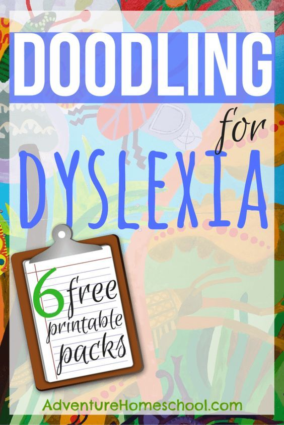6 FREE Printable Doodling for Dyslexia Packs (Not Just For the Child ...