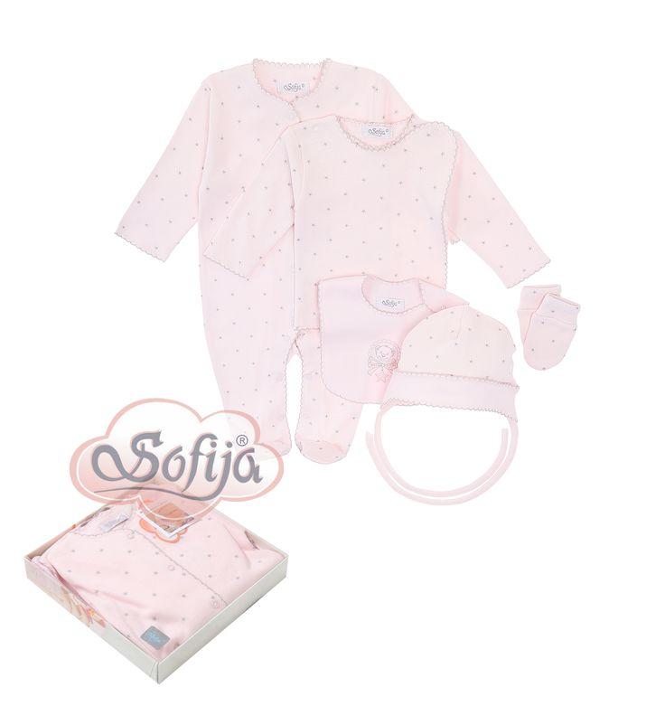 5-częściowy komplet Gwiazdeczka z delikatnej bawełny  www.sofija.com.pl  #babyshower #babygift #kinder #babygeschenk #kids #baby #dziecko #prezent #niemowlak #wyprawka #sofija #ubranka #подарокребенку #ребенок