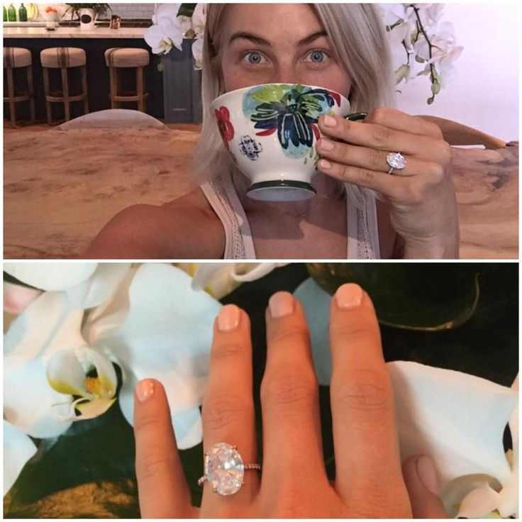 Cute engagement announcement // Sweet proposal story and ring selfie on Julianne Hough's blog!