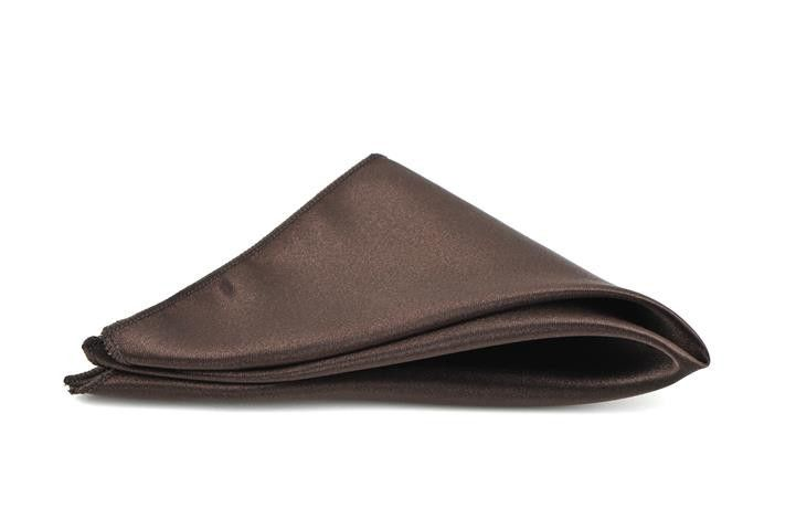 Chocolate Satin Pocket Square Hank