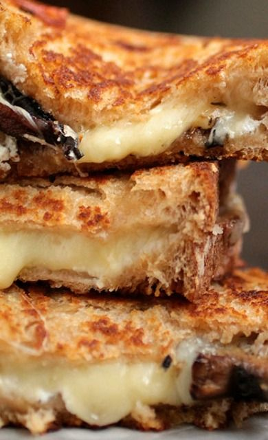 thyme roasted mushroom grilled cheese grilled cheese recipes grilled ...