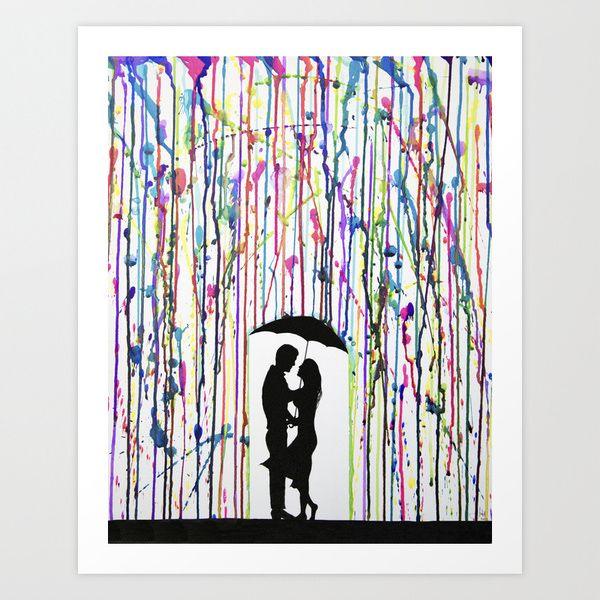 Lovers in a Spy Thriller Art Print | dotandbo.com