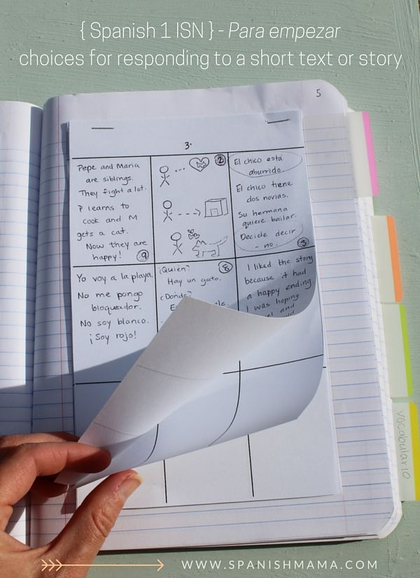 80 best images about Spanish Interactive Notebooks on Pinterest ...
