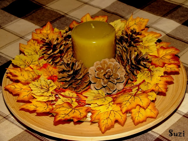 jednoduchá jesenná dekorácia