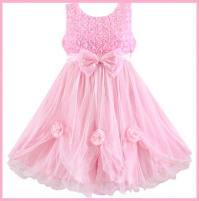imagenes de vestidos para 3 años color rosa