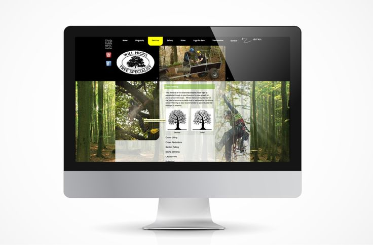 Will Hicks - Tree Specialist,  Will asked us to create a website which would reflect his uniqueness and speciality in his field.  I believe it is proving to keep him busy so job done!  http://www.willhicks.co.uk
