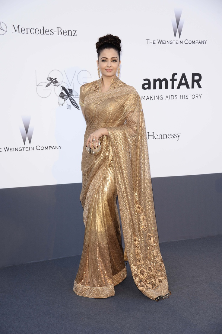 Aishwarya Rai attends the amfAR Gala at Cannes.