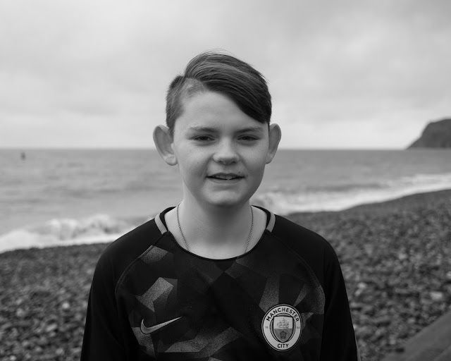 Portrait Photography for Beating Bowel Cancer: Portrait Photography By The Sea in Winter