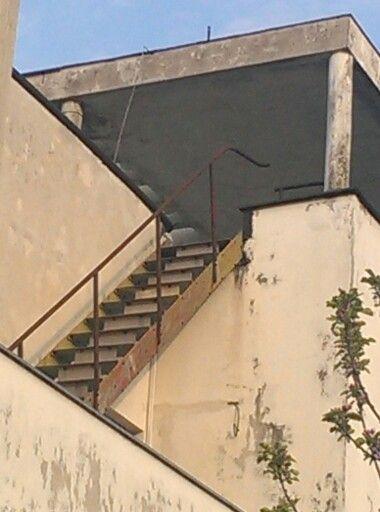 Barrandov modernist stair to an upper portico