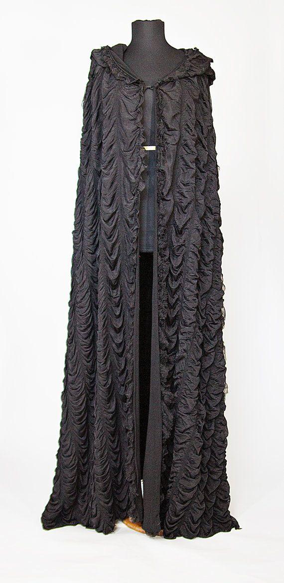 Lily Munster inspired Black Casket Cape.....love <3