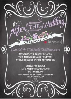 after destination wedding reception invitation
