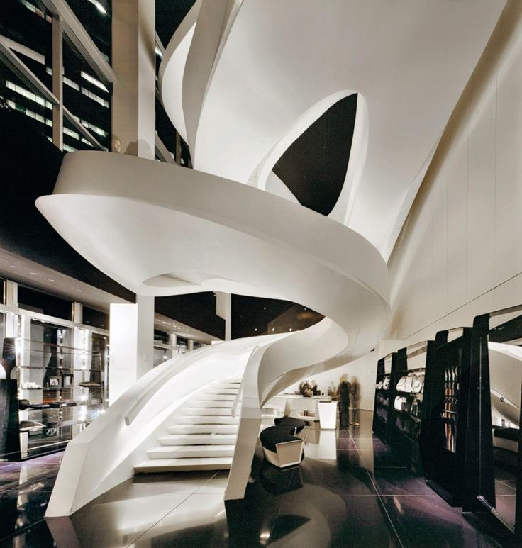 Giorgio armani stair escalier architecture moderne for Architecture courbe