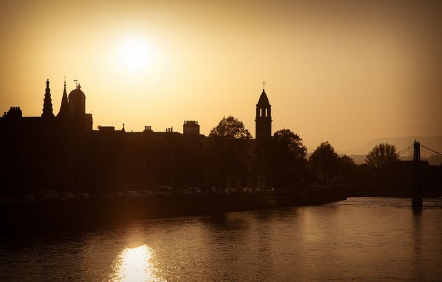 Sunset, Inverness, Scotland. Can't wait until May!