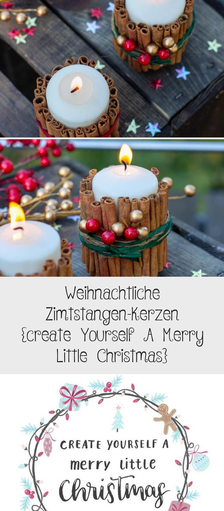 Weihnachtliche Zimtstangen Kerzen Create Yourself A Merry Little Christmas In 2020 Decor Table Decorations Diy