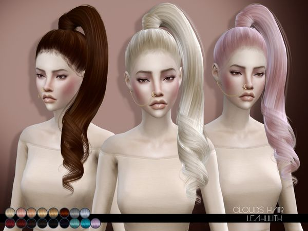 The Sims Resource: LeahLillith Clouds Hair • Sims 4 Downloads