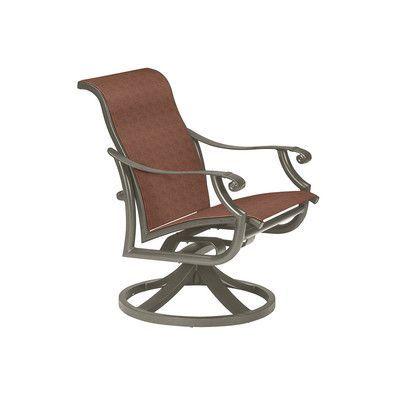 Tropitone Montreux Ii Swivel Patio Dining Chair Finish: Mocha, Fabric: Valencia