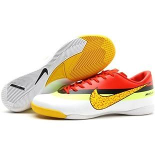http://www.asneakers4u.com/ Nike Mercurial Vapor Superfly Fourth IC CR Indoor Football Shoes In White Electricity Black Red Yellow