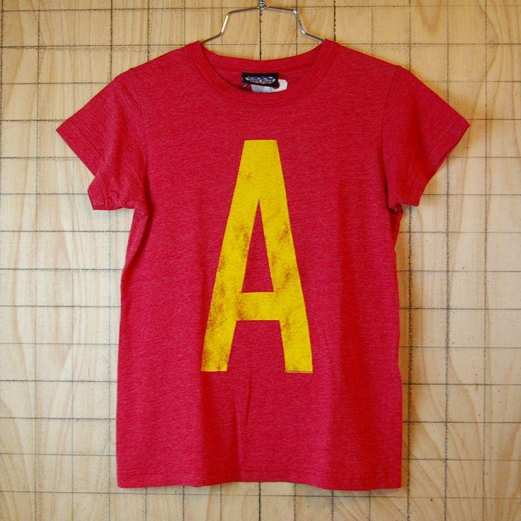 【JUNK FOOD】古着USA(アメリカ)製レッド×イエローイラストTシャツ|レディースSサイズ相当